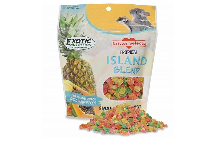 Exotic Nutrition Island Blend Treat - Healthy Natural Dried Diced Fruit Treat Review