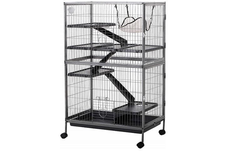 """PawHut 50"""" 4 Tier Steel Plastic Small Animal Pet Cage Kit with Wheels Review"""