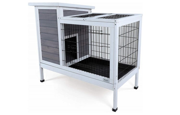 Petsfit Wood Rabbit Cage with Deeper Removable Tray Review
